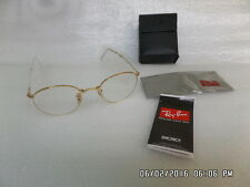 New Auth.Latest  Ray-Ban RB 3532 Gold Folding Eyeglasses MADE IN ITALY NWT TAGS!