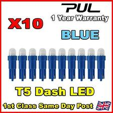 10 X Car T5 73 74 286 Dashboard LED Blue Light Bulb Lamp 12V Replacement