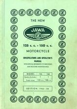1953/54 JAWA 125 / 150 CC SPECIFICATIONS & OPERATOR'S MANUAL BETRIEBSANLEITUNG
