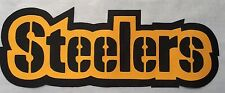 "HUGE PITTSBURGH STEELERS IRON-ON PATCH - 3.5"" x 10"""