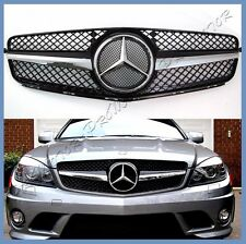 08-14 BENZ W204 Sedan SL Style Shiny Black Front Grille Hood For C250 C300 C350