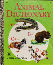 Animal Dictionary Little Golden Book #533 Feodor Rojankovsky 4th print
