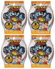Yo-Kai Watch Series 4 Blind Bags - 4 Sealed 3-Packs - 12 Total Medals US Version