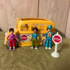 Fisher Price Sweet Streets Go Anywhere Girls School Bus Playset - RARE!