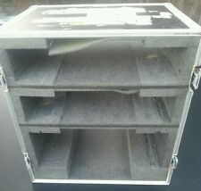 CF CASES HEAVY DUTY FLIGHT CASE 3 Tier Rack Padded With Foam Protect