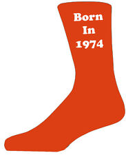1974 Orange&White - Colourful Year Novelty Socks - Special Socks - Perfect Gift