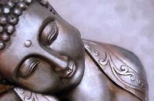 Mystique Buddha ,Yoga Cool Bronze colours Meditation Karma Canvas Yoga Zen print
