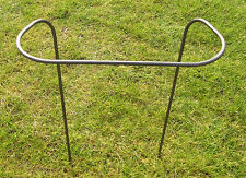6 X HANDCRAFTED METAL VICTORIAN GARDEN PLANT SUPPORTS  - 370mm HIGH