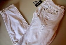 Miss Me Women's Signature Cuffed Skinny Jeans Embellished Size 30  - NWT $109