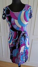 Emilio Pucci  multi coloured silk wrap women's Jersey dress sz IT 40 UK8EU36 US6