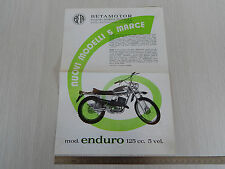 DEPLIANT ORIGINALE BETA 125 ENDURO 5V 50 CROSS SPECIAL MOTOCROSS BROCHURE