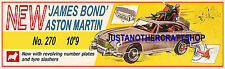 Corgi Toys 270 James Bond Aston Martin DB5 Large Poster Advert Shop Sign Leaflet