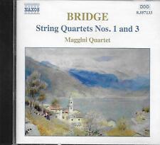 CD album: Bridge: String Quartets N°1 & 3. Maggini Quartet. naxos. M