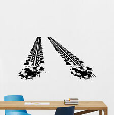 Tire Tracks Wall Decal Way Road Garage Vinyl Sticker Rally Nursery Mural 193crt