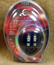 """NEW Ethereal EE-Y2 RCA """"Y"""" Adapter - 2 Male to 1 Female, 0.3M, Premium Grade"""