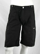 Bench - Size 28 - $92 Mens Black Cargo Board Shorts Gray Stitched Geo Shapes NWT