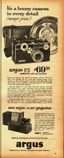 1950's Vintage ad for argus C3 complete with case and flash~argus projector