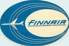 Finnair ~FINLAND~ Great Old Airline Luggage Label, circa 1962