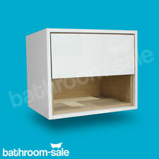 Lincoln 600 White & Oak Wall Mounted Drawer Unit and Basin -Genuine -  RRP £579