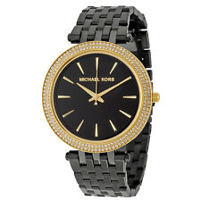 Michael Kors Darci Black Dial Black Ion-plated Ladies Watch MK3322