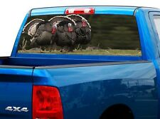 P512 Turkey Rear Window Tint Graphic Decal Wrap Back Truck Tailgate