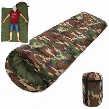 3 Season Adult Waterproof Envelope Sleeping Bag Camping Hiking Suit Case Zip UK