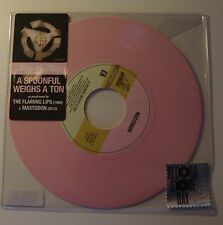 "THE FLAMING LIPS & MASTODON - A Spoonful Weighs A Ton 7"" PINK VINYL RSD 2012"