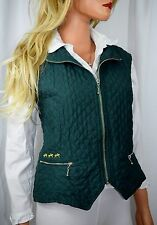 SOLANA BY JRD MADE IN FIJI Emerald Quilted Polo Pony  Equestrian Vest Smalll
