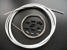 3M JAGWIRE L3 WHITE Slick GEAR OUTER + STAINLESS INNER CABLES  ferrules & crimps