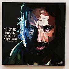 walking dead Rick grimes canvas quote wall decals photo painting pop art poster