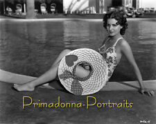 BRENDA MASHALL 8x10 Professional Lab Photo Sexy 1940's Swimsuit Poolside