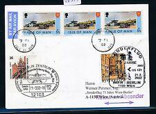 86377) LH / AUA SF Berlin - Wien Österreich 21.3.2002, card Isle of Man R!