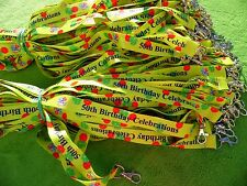 50 x PERSONALISED LANYARDS, CUSTOM PRINTED WITH YOUR LOGO AND TEXT 20mm WIDTH