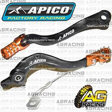 Apico Black Orange Rear Brake & Gear Pedal Lever For KTM EXC/F 350 2014 MotoX
