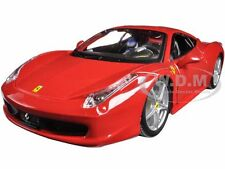 FERRARI 458 ITALIA RED 1/24 DIECAST MODEL CAR BY BBURAGO 26003