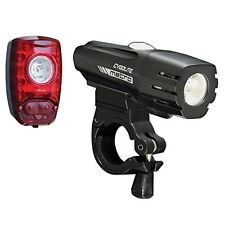 Cygolite Metro 400 Hotshot 2W Bike Safety Head Tail Light Set USB Rechargeable