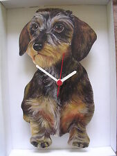 Wirehound Dachshund Dog Wall Clock. New & Boxed.Wire Hound