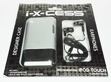 i-x-cess Designer Case & Earphones 4th Generation iPod Touch Compatible NIP a11