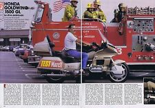 COUPURE DE PRESSE CLIPPING 1988 LA HONDA GOLDWING 1500 GL moto  (3 pages)