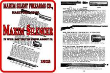 Maxim 1925 Gun Silencer Catalog