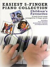 Easiest 5-Finger Piano Childrens Favourites Learn Play Kids Tunes Music Book