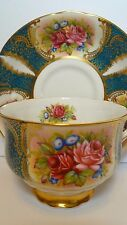 Gorgeous Paragon Morning Glory and Roses cup and saucer
