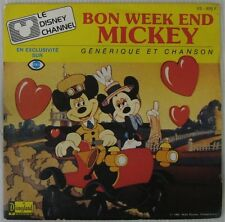 Bon Week-end Mickey 45 tours Walt Disney