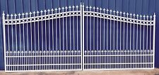 Aluminum Driveway Entry Gate 18ft Wide Dual Swing. Fencing, Handrails.Beds Iron
