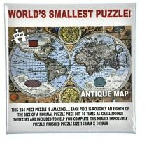 Worlds Smallest Puzzle Antique Map Impossible micro 234pc Jigsaw with tweezers