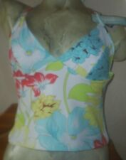 LEPEL TIE TANKINI TOP SIZE 12C/D CUP WHITE FLORAL PRINT