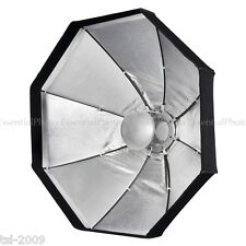 "24""/60cm Beauty Dish Pieghevole Argento/Octabox softbox Kit 2 in 1 Bowens S Fit"