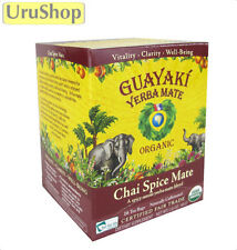 Y173 GUAYAKI ORGANIC FAIRTRADE YERBA MATE WITH SPICY CHAI – IN TEABAGS