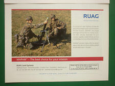 4/2006 PUB RUAG AEROSPACE LAND SYSTEMS ARMEE SUISSE MAPAM 60 MM MORTAR AD