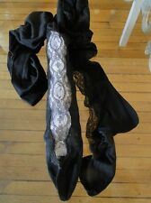 CIRCA 1900, ELABORATE LADIES STOCKINGS W/CHANTILLY LACE,MUSEUM DEACCESSION